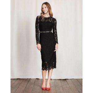 Boden Susannah black lace dress